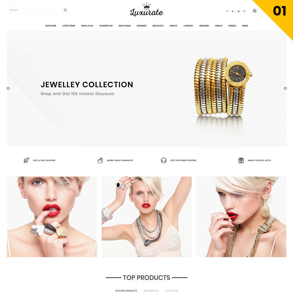 theme - Bijoux & Accessoires - Luxurate - La Méga Bijouterie - 3