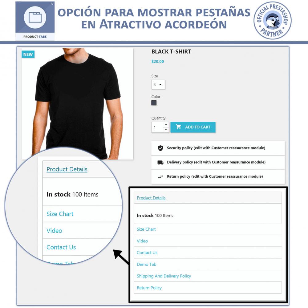 module - Informaciones adicionales y Pestañas - Módulo de Pestañas de Productos - 4