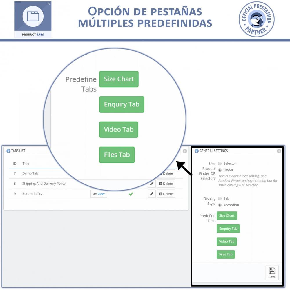 module - Informaciones adicionales y Pestañas - Módulo de Pestañas de Productos - 5