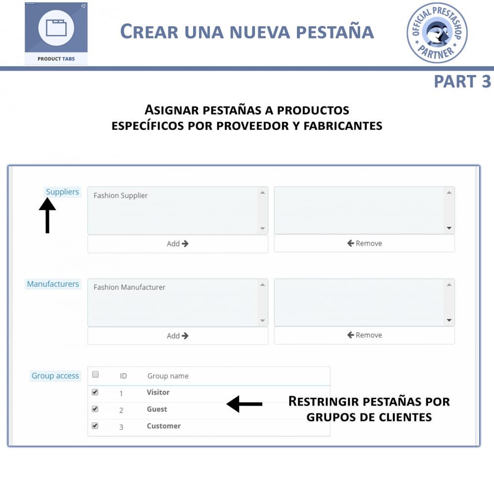 module - Informaciones adicionales y Pestañas - Módulo de Pestañas de Productos - 8
