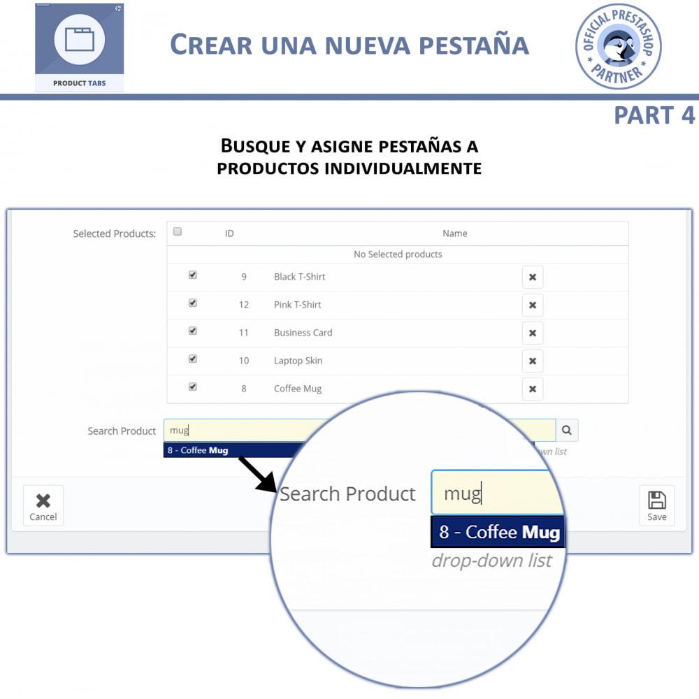 module - Informaciones adicionales y Pestañas - Módulo de Pestañas de Productos - 9