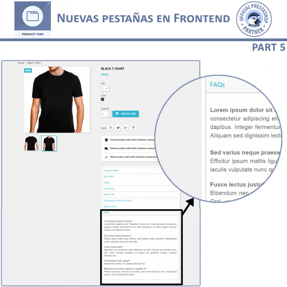 module - Informaciones adicionales y Pestañas - Módulo de Pestañas de Productos - 10