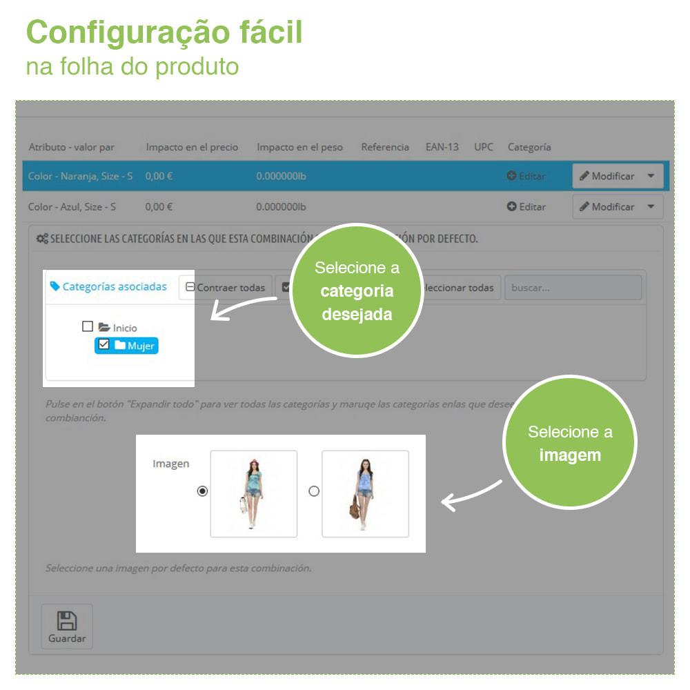 module - Diversificação & Personalização de Produtos - Combinação de atributos personalizados para categoria - 3