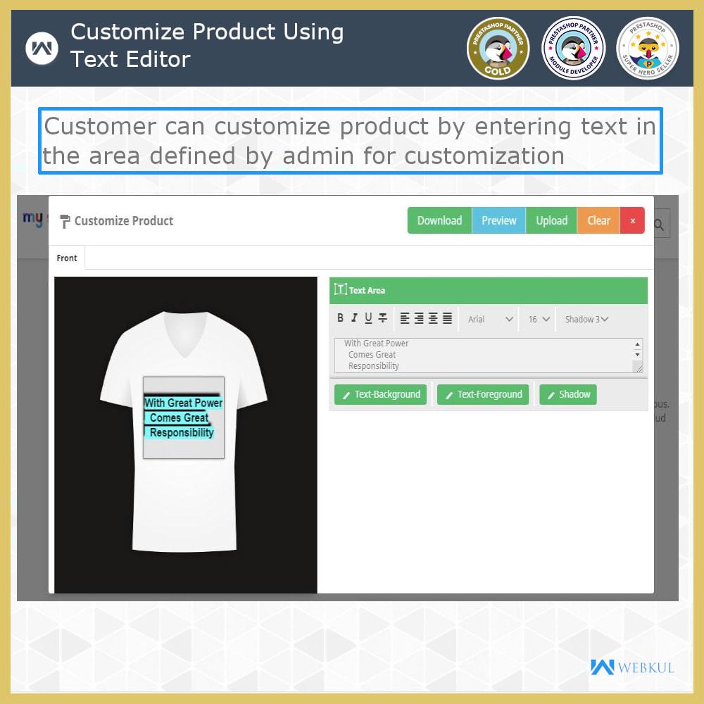 module - Versies & Personalisering van producten - Web to Print -  Product Customize - 3
