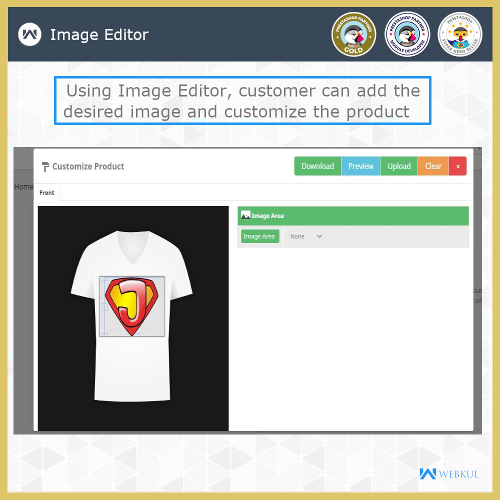 module - Versies & Personalisering van producten - Web to Print -  Product Customize - 5