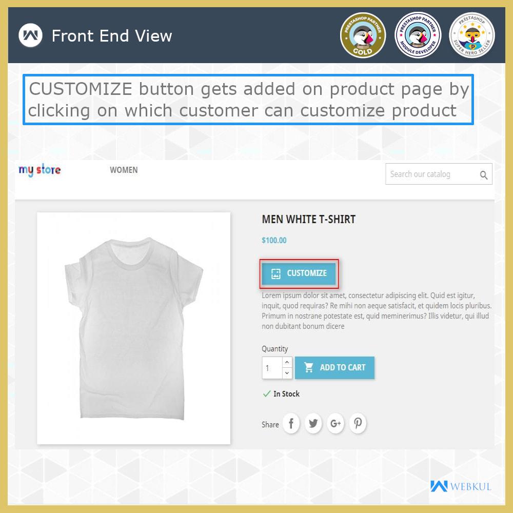 module - Versies & Personalisering van producten - Web to Print -  Product Customize - 7