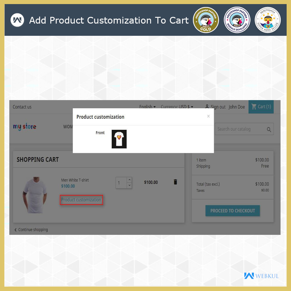 module - Versies & Personalisering van producten - Web to Print -  Product Customize - 9