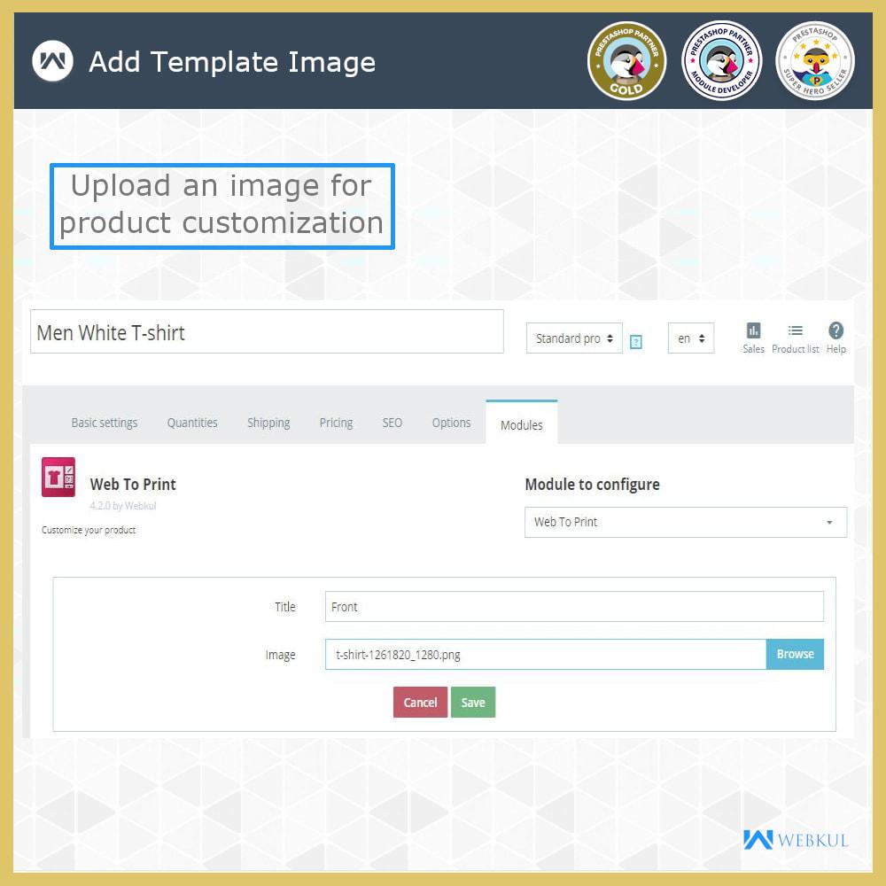 module - Versies & Personalisering van producten - Web to Print -  Product Customize - 10
