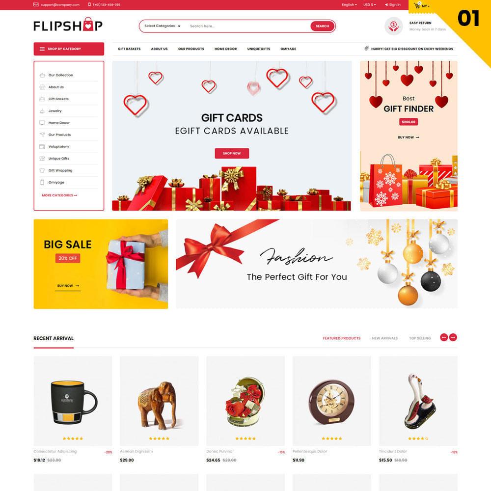 theme - Подарки, Цветы и праздничные товары - Flipshop - The Gift Store - 3