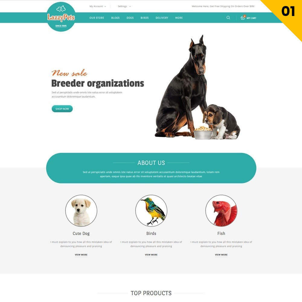 theme - Animals & Pets - lazzypets - The Animal Store - 3