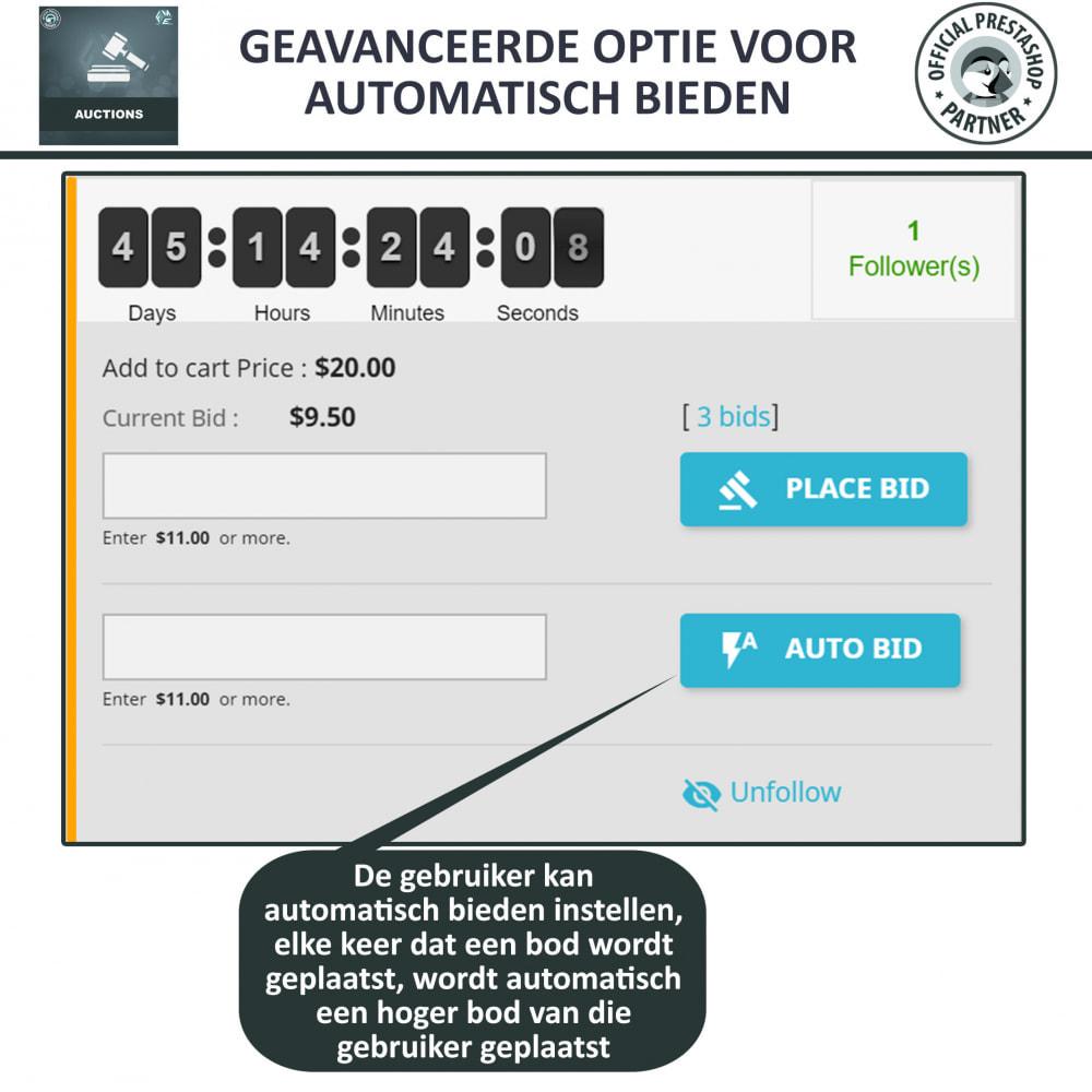module - Bouw een veilingsite - Auction Pro, Online veilingen en biedingen - 7
