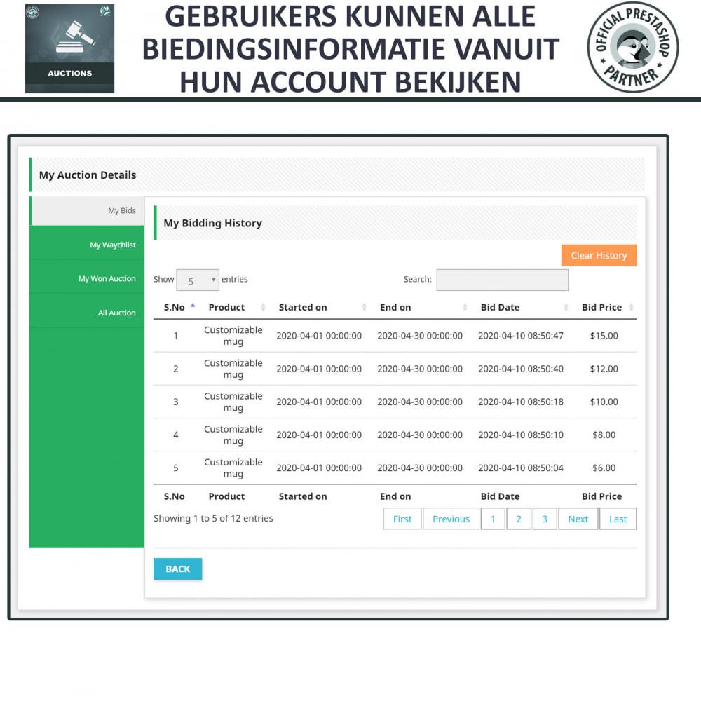 module - Bouw een veilingsite - Auction Pro, Online veilingen en biedingen - 20