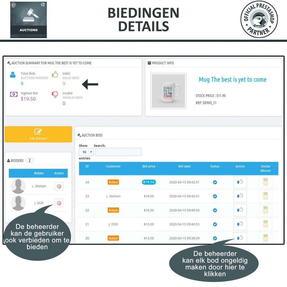 module - Bouw een veilingsite - Auction Pro, Online veilingen en biedingen - 24