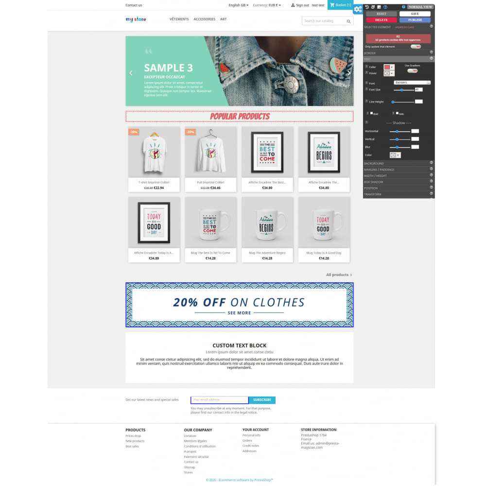 module - Individuelle Seitengestaltung - CSS MAGICIAN the themes configurator and Page builder - 1