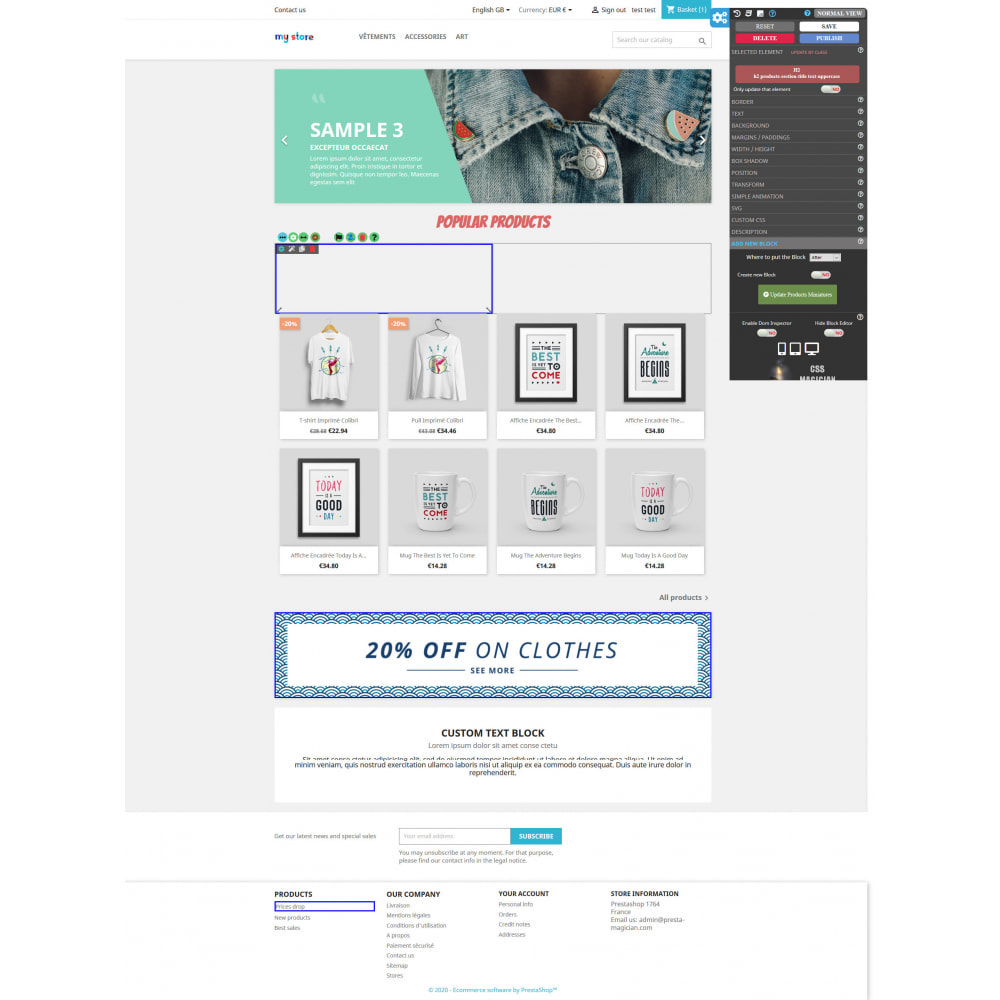 module - Individuelle Seitengestaltung - CSS MAGICIAN the themes configurator and Page builder - 2