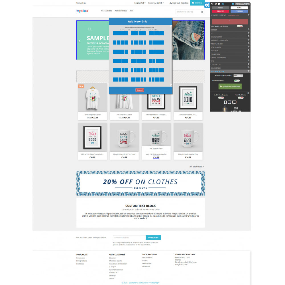 module - Individuelle Seitengestaltung - CSS MAGICIAN the themes configurator and Page builder - 5