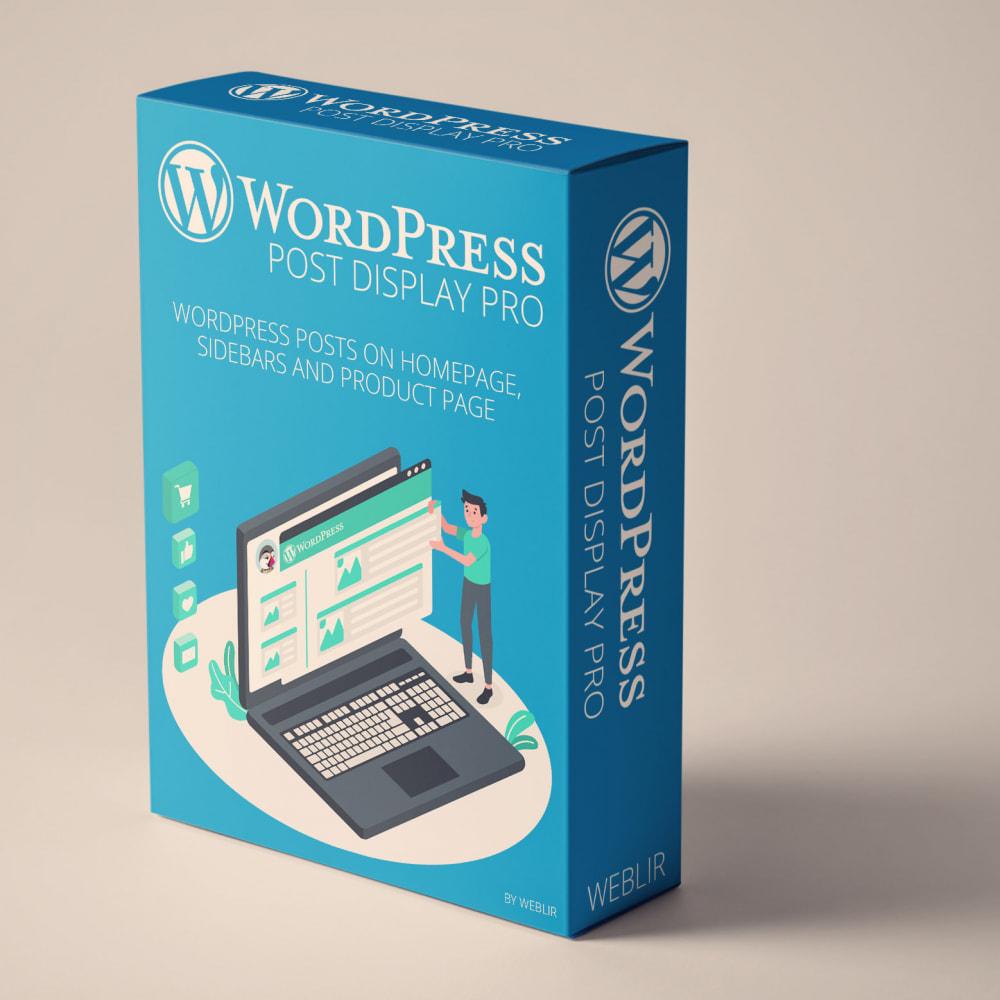 module - Blog, Forum & Actualités - WordPress blog post display PRO - 1