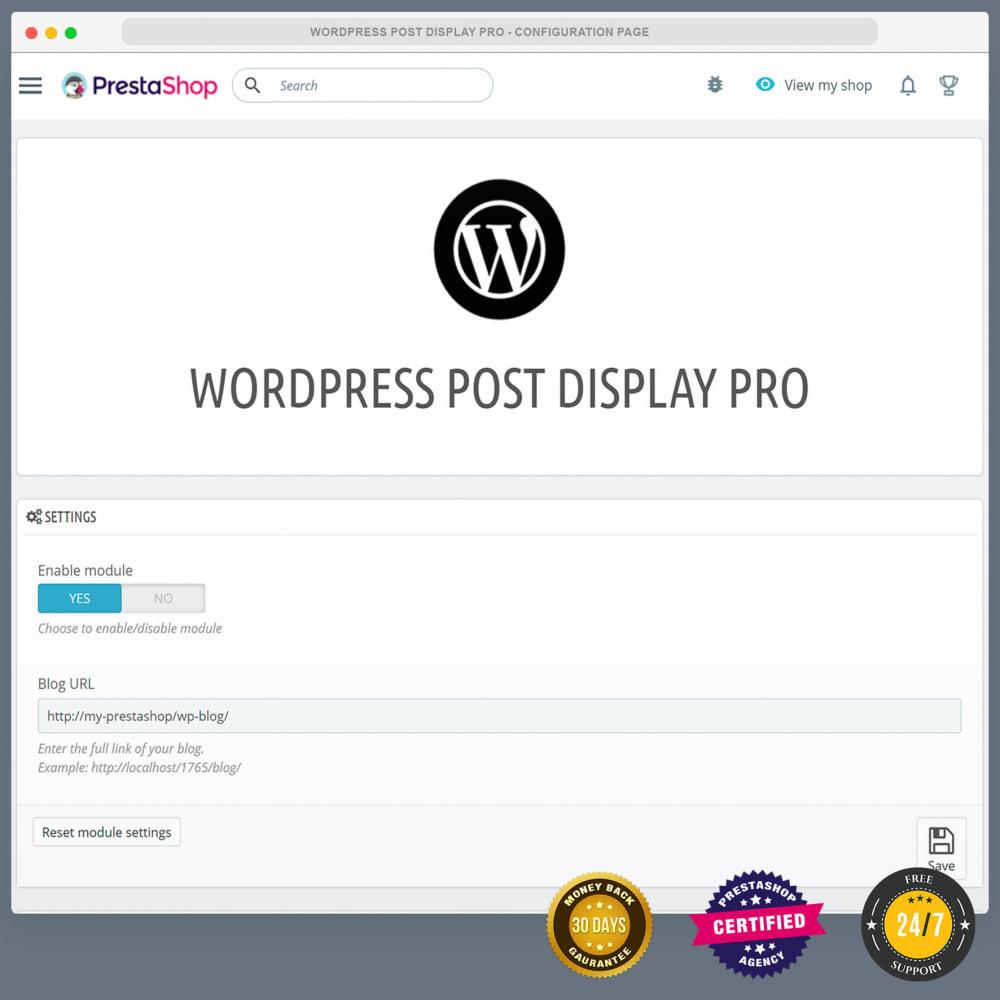 module - Blog, Forum & Actualités - WordPress blog post display PRO - 2
