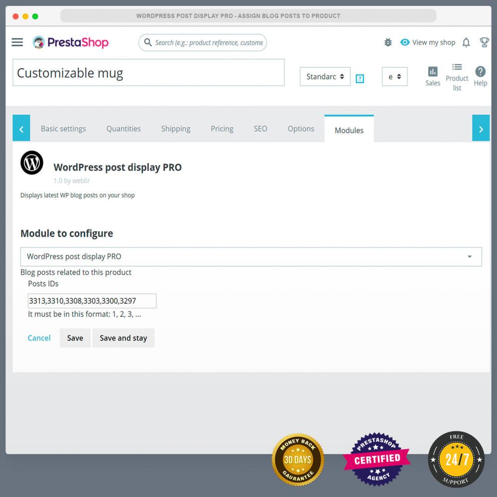 module - Blog, Forum & Actualités - WordPress blog post display PRO - 5