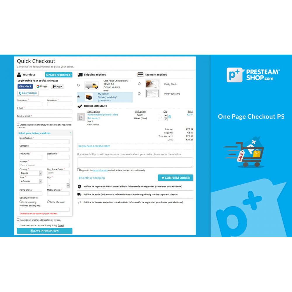 module - Szybki proces składania zamówienia - One Page Checkout PS (Easy, Fast & Intuitive) - 1