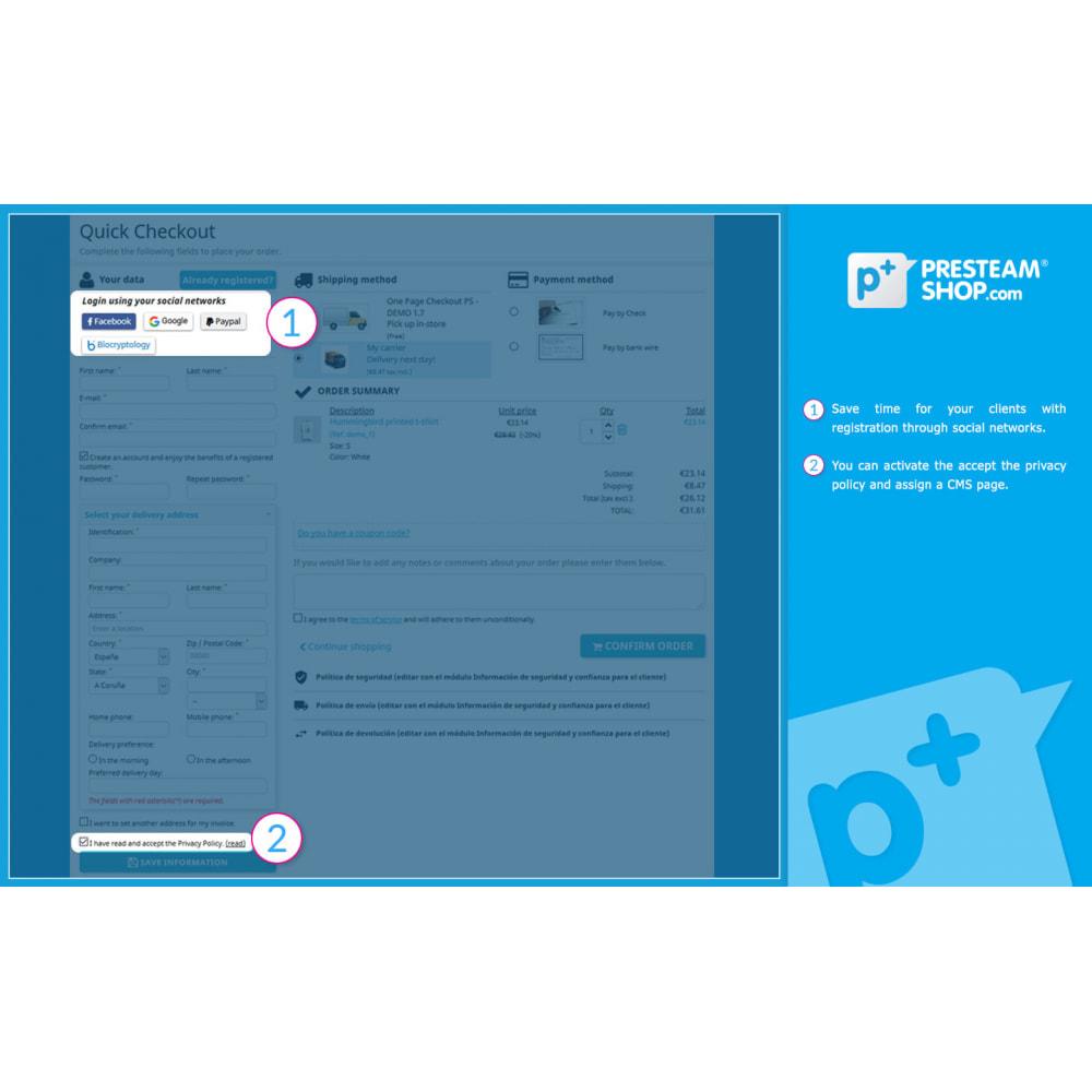 module - Szybki proces składania zamówienia - One Page Checkout PS (Easy, Fast & Intuitive) - 2