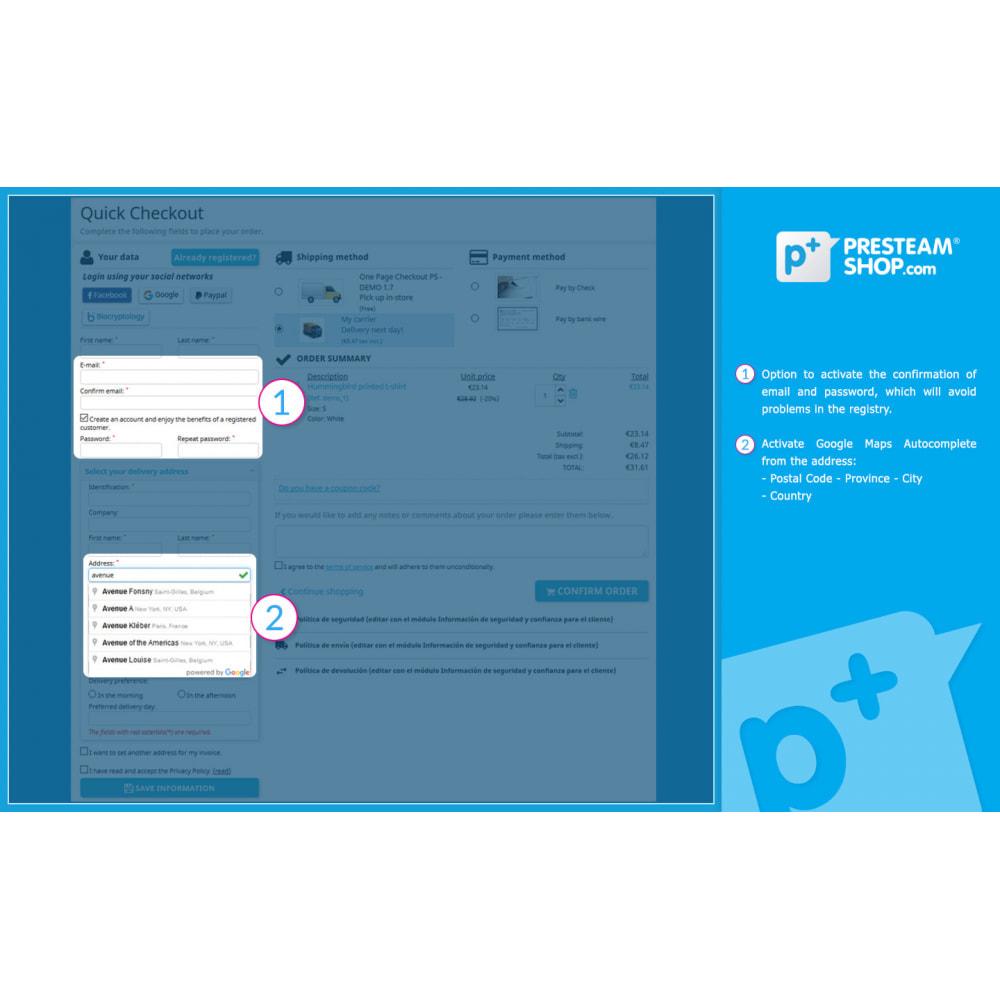 module - Szybki proces składania zamówienia - One Page Checkout PS (Easy, Fast & Intuitive) - 3