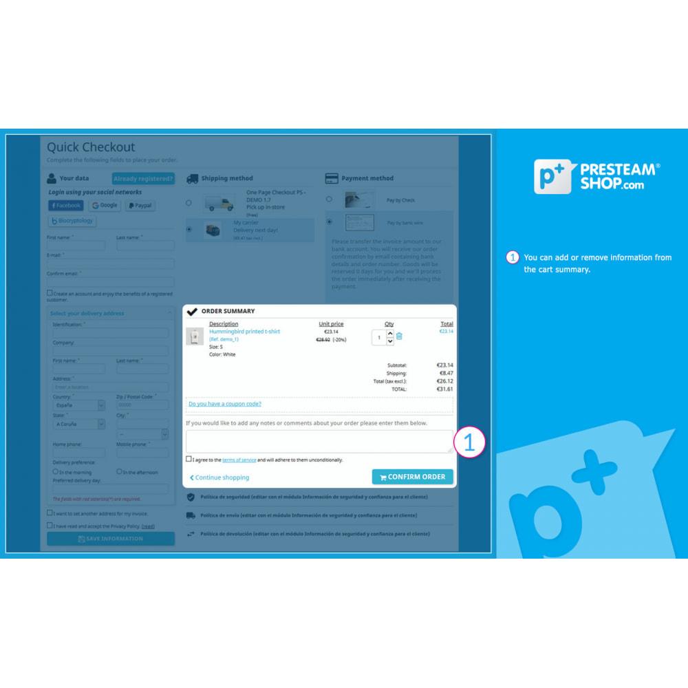 module - Szybki proces składania zamówienia - One Page Checkout PS (Easy, Fast & Intuitive) - 10