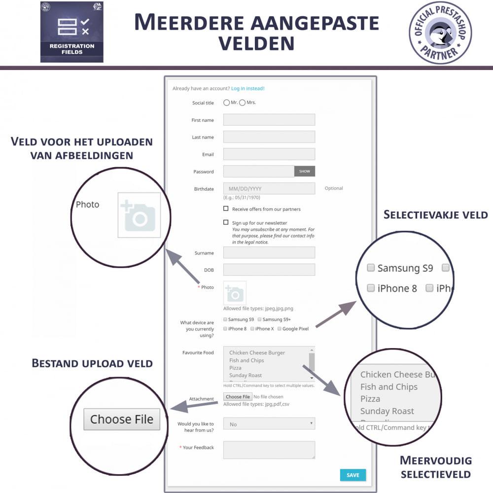 module - Registratie en Proces van bestellingen - Aangepaste Registratievelden-Validatie Van Registratie - 3