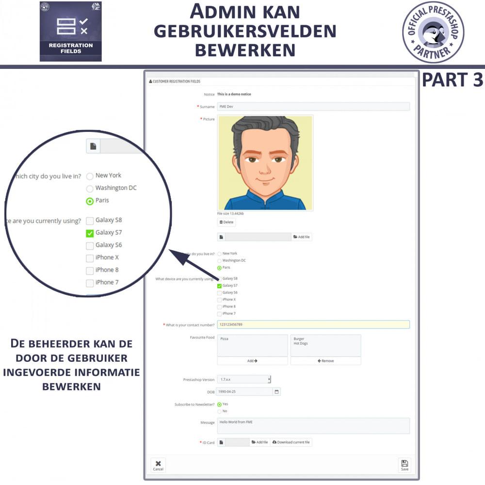 module - Registratie en Proces van bestellingen - Aangepaste Registratievelden-Validatie Van Registratie - 9