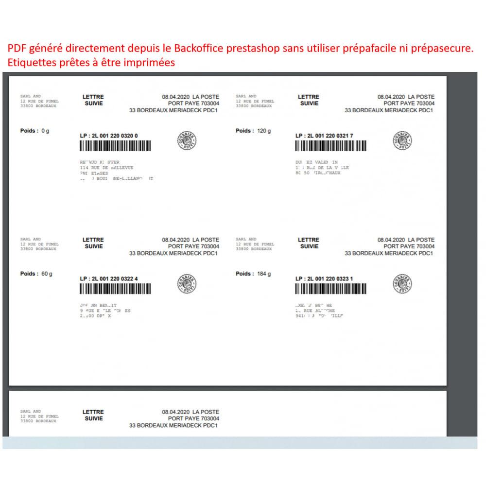 module - Etiquetas y Logos - labeling port paye poste - 1