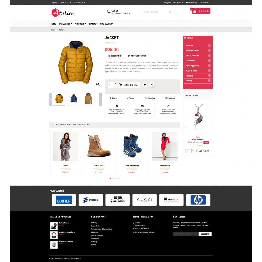 theme - Moda y Calzado - Atelier Fashion Multipurpose HTML5 - 4