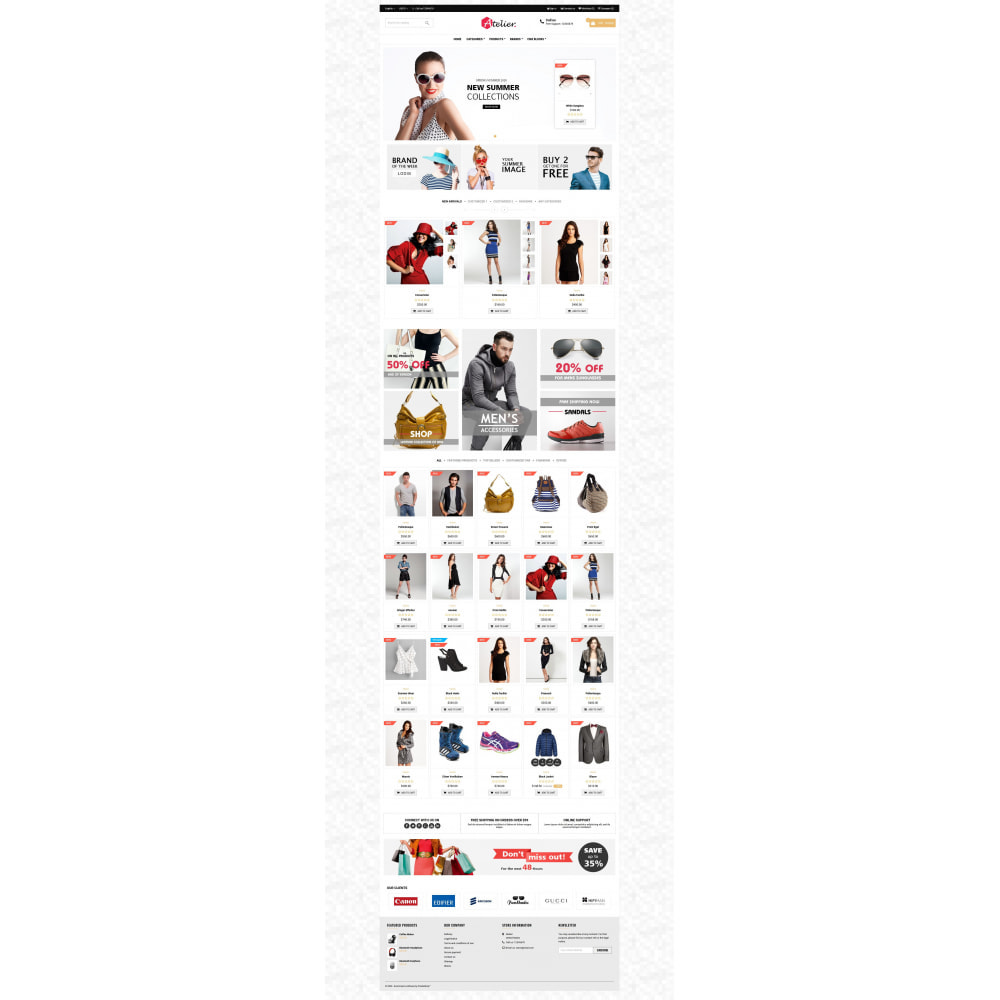 theme - Moda y Calzado - Atelier Fashion Multipurpose HTML5 - 7