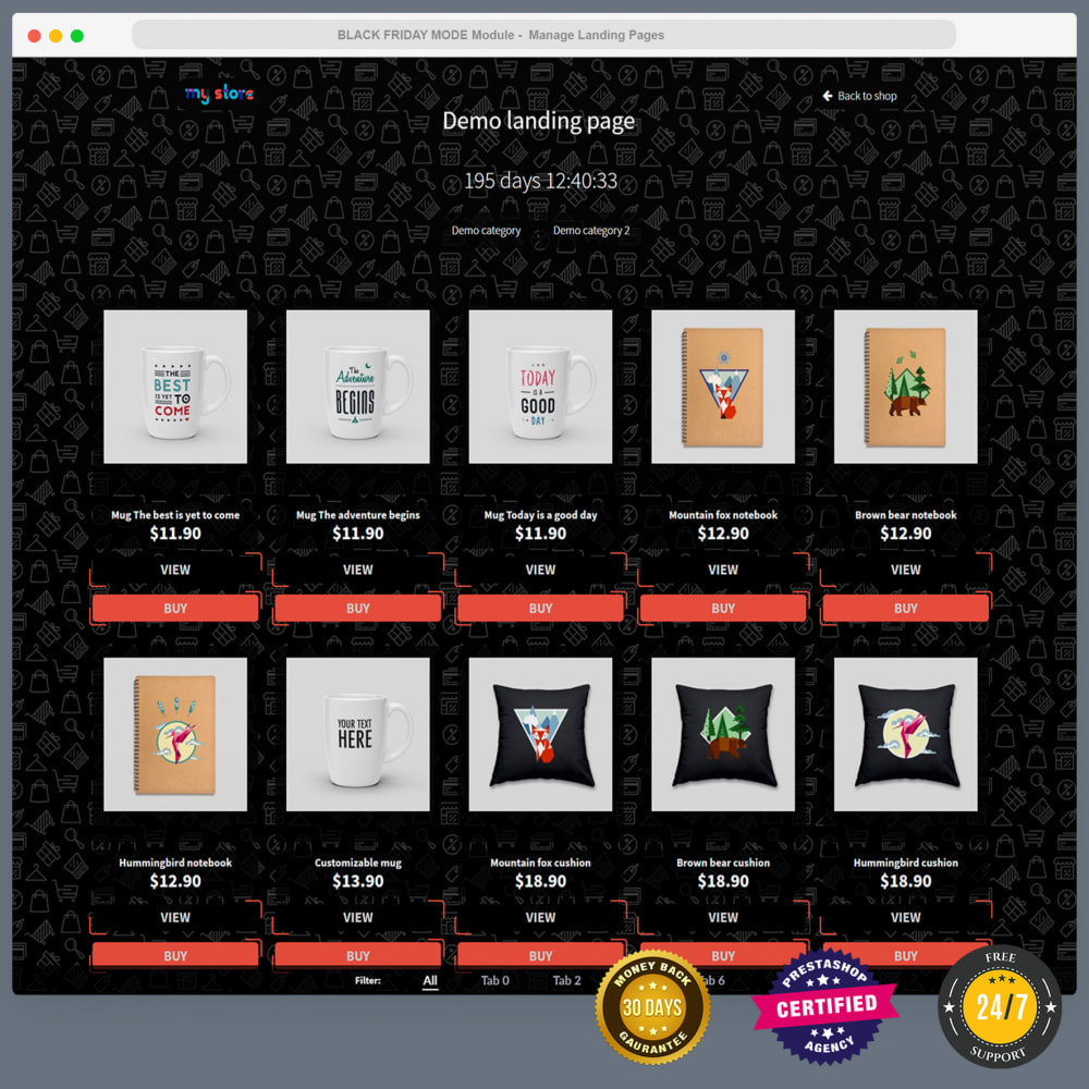 module - Promotions & Gifts - BLACK FRIDAY SALES MODE -UNLIMITED LANDING PAGE Builder - 16