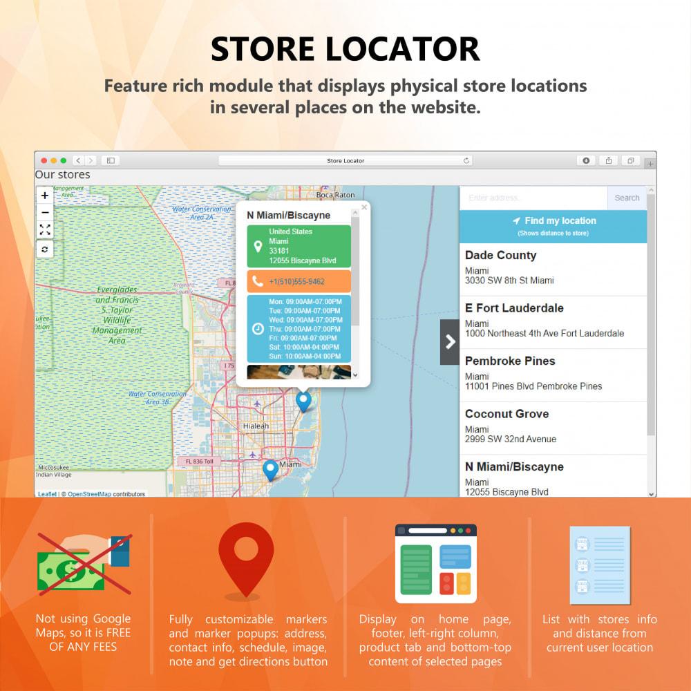 module - Международный рынок и геолокация - Premium Store Locator (FREE - No Google Maps) - 1