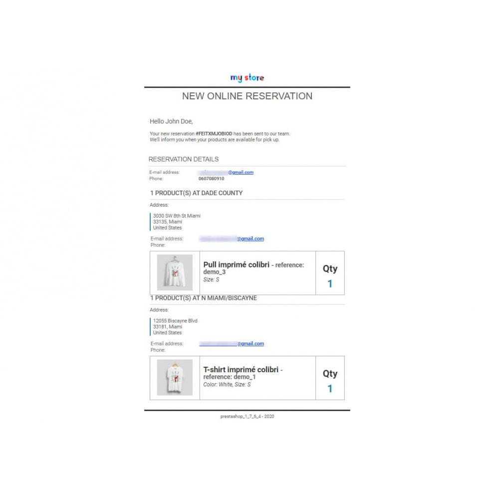 module - запасов и поставщиков - Click & Collect Advanced / E-Reservation - 5