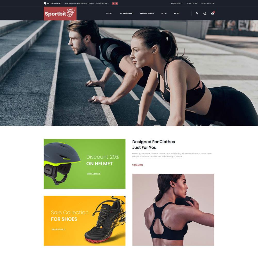 theme - Sport, Loisirs & Voyage - Sportbit - Fitness Shop - 1
