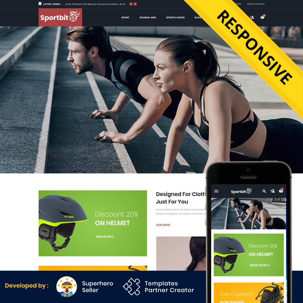 theme - Sport, Loisirs & Voyage - Sportbit - Fitness Shop - 2