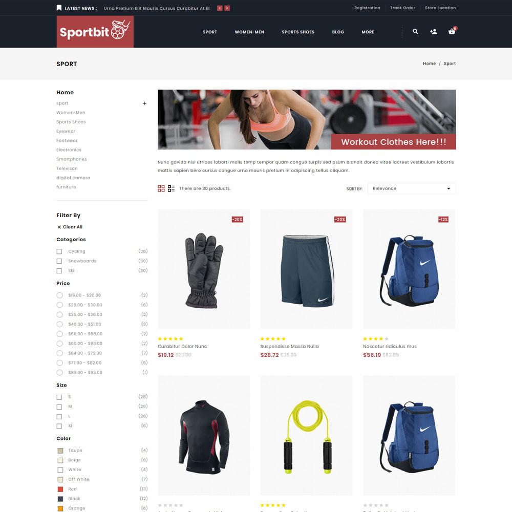 theme - Sport, Loisirs & Voyage - Sportbit - Fitness Shop - 3