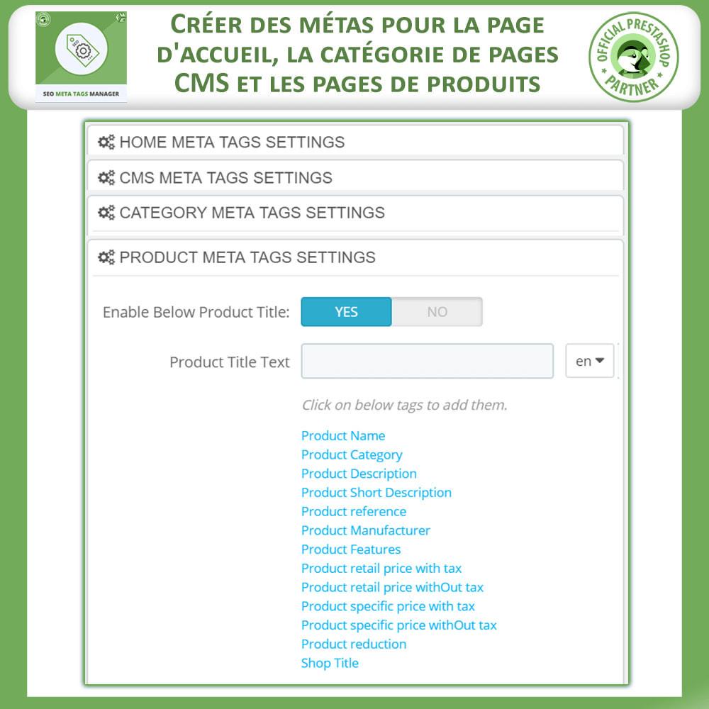 module - SEO (référencement naturel) - Meta Tag Manager - 3