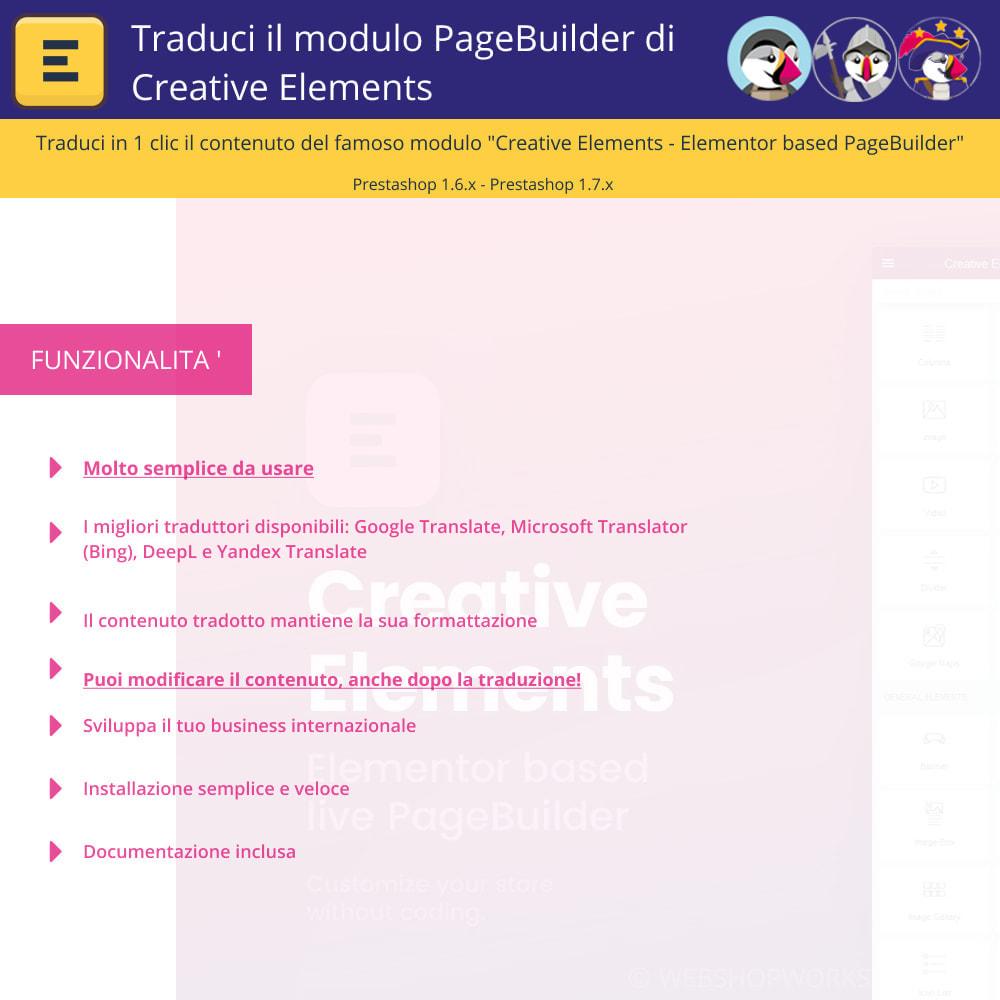 module - Lingue & Traduzioni - Traduci Elementor (Creative Elements & Iqit) - 1