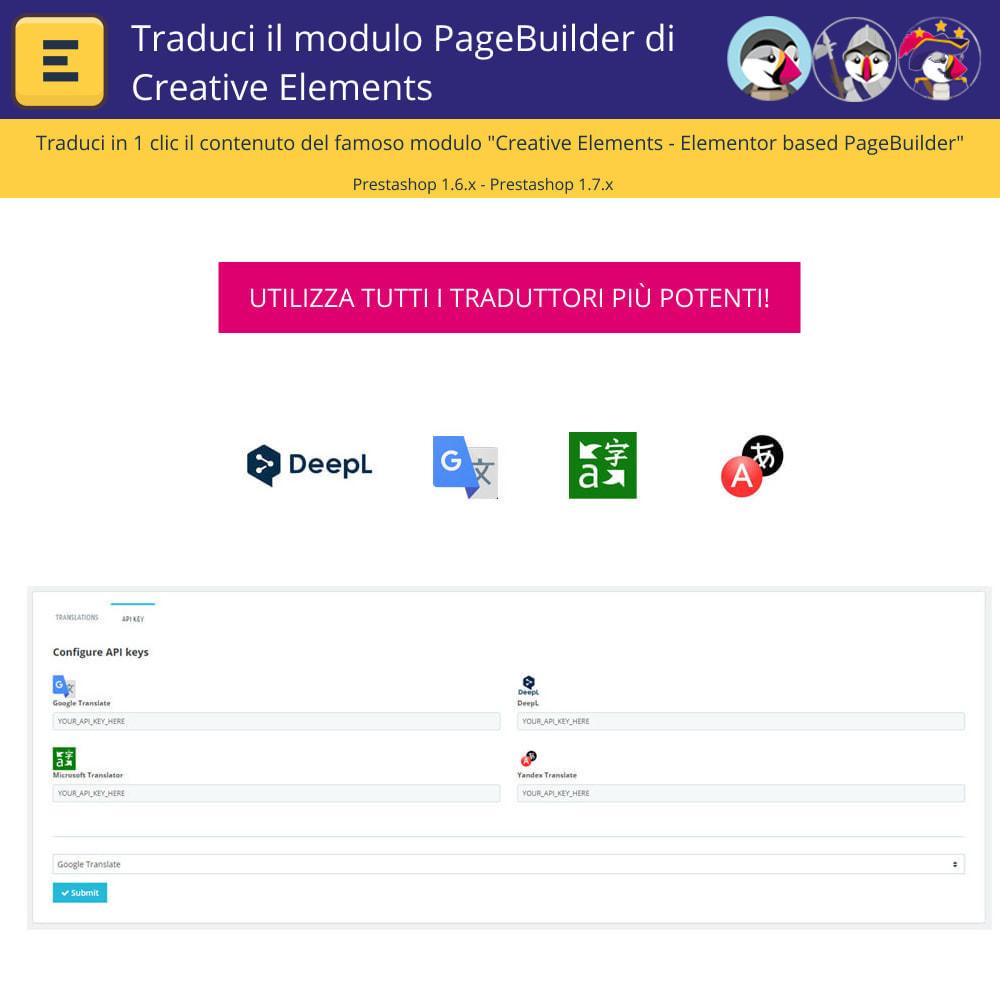 module - Lingue & Traduzioni - Traduci Elementor (Creative Elements & Iqit) - 2