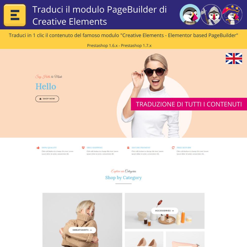 module - Lingue & Traduzioni - Traduci Elementor (Creative Elements & Iqit) - 3