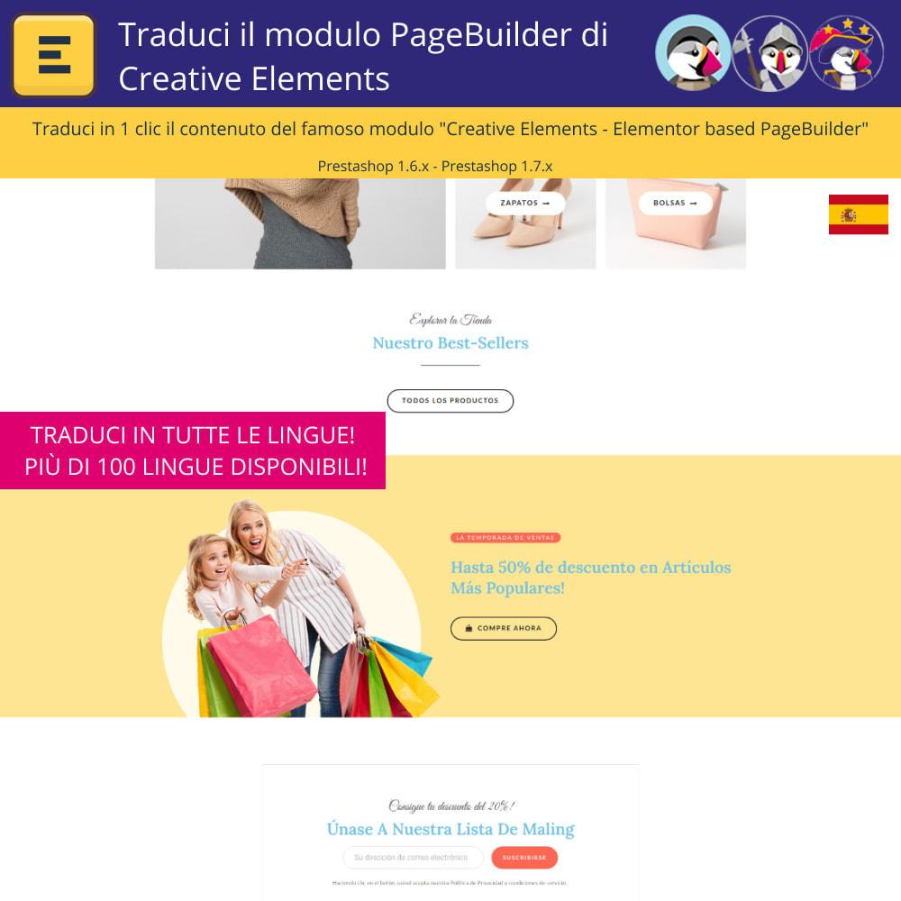 module - Lingue & Traduzioni - Traduci Elementor (Creative Elements & Iqit) - 4