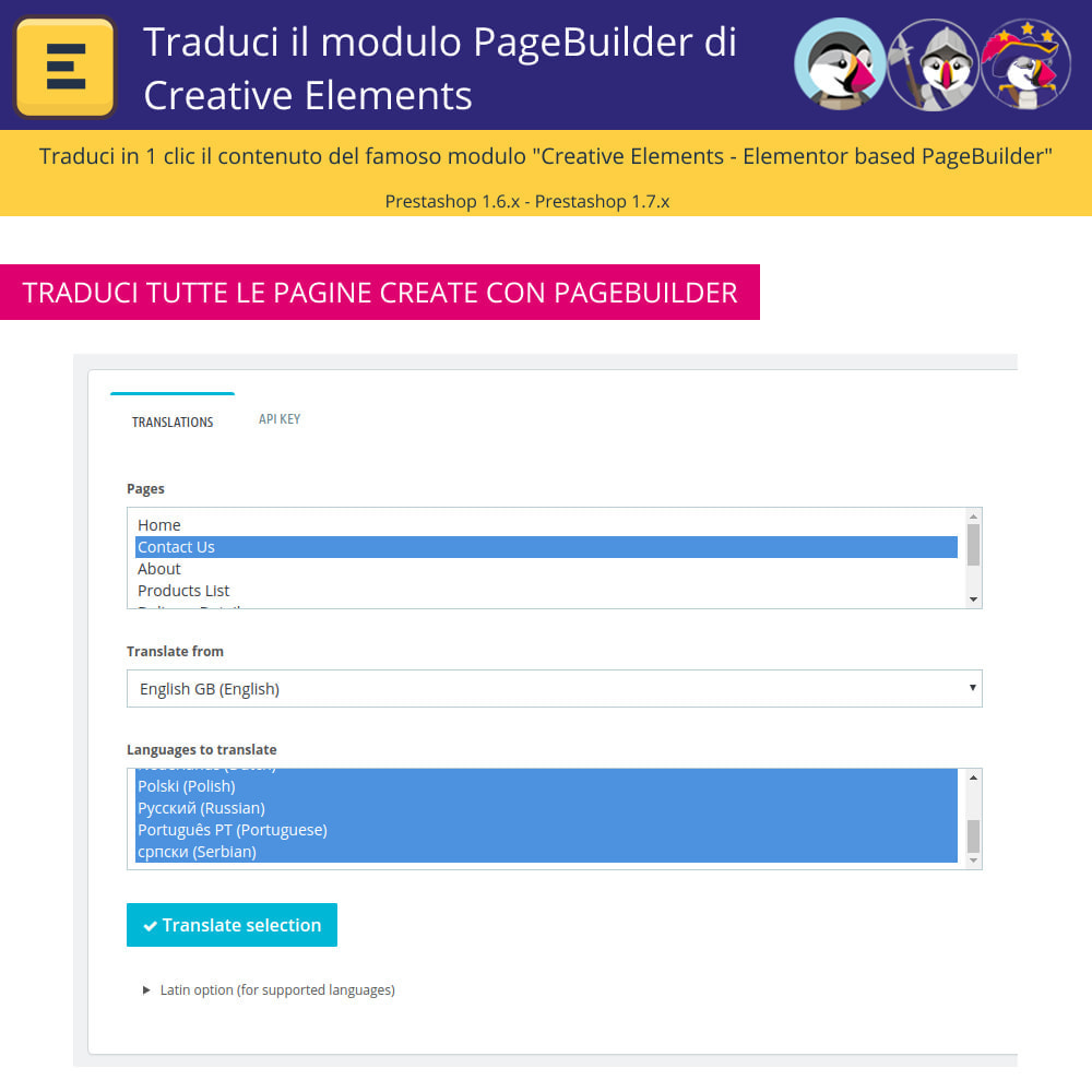 module - Lingue & Traduzioni - Traduci Elementor (Creative Elements & Iqit) - 5