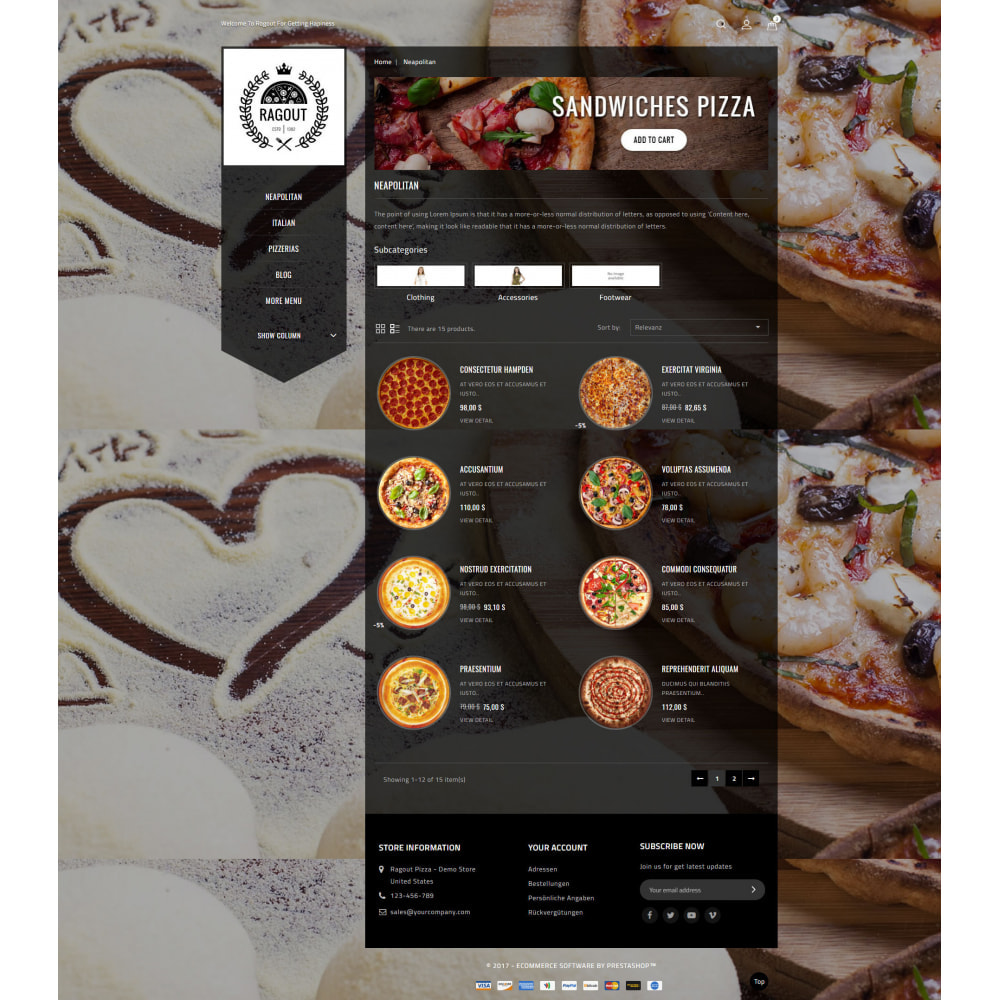 theme - Gastronomía y Restauración - Ragout Pizza Store - 4
