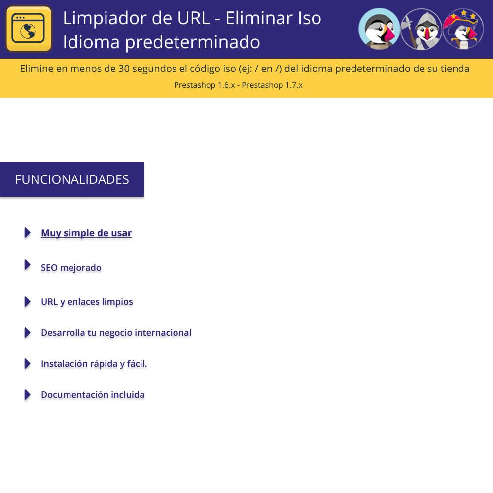 module - URL y Redirecciones - Limpiador URL - Borrar el lenguaje por defecto de Iso - 1