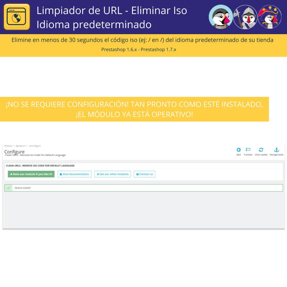 module - URL y Redirecciones - Limpiador URL - Borrar el lenguaje por defecto de Iso - 3