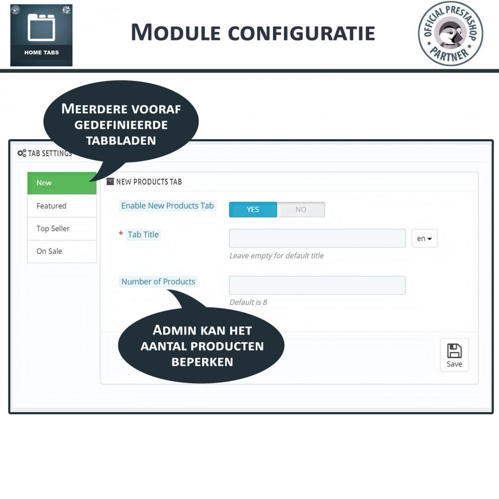 module - Blokken, Tabbladen & Banners - Home-Tabbladen - Voeg aangepaste tabbladen toe - 4