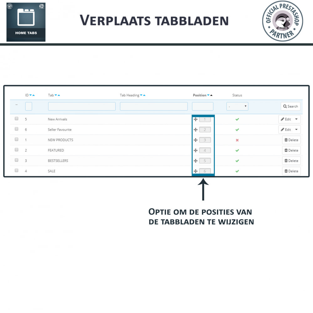 module - Blokken, Tabbladen & Banners - Home-Tabbladen - Voeg aangepaste tabbladen toe - 7