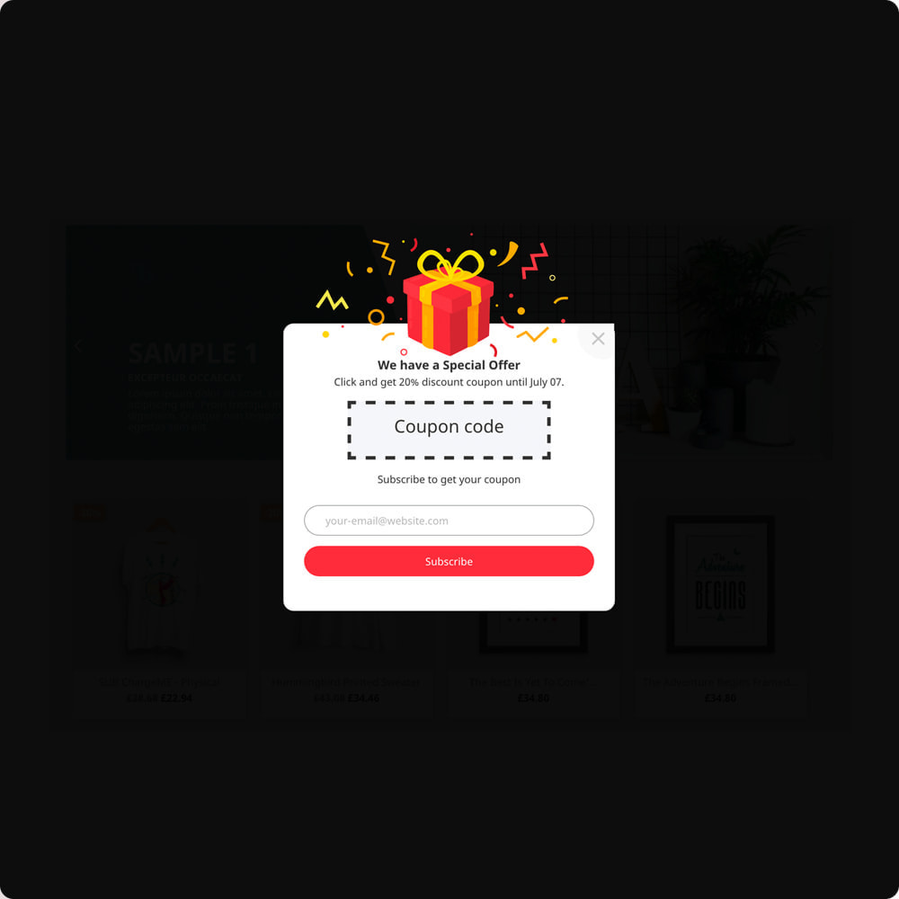 module - Newsletter & SMS - Popup Newsletter - 9